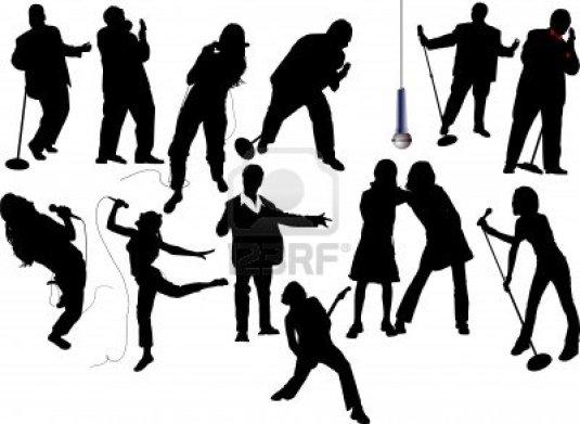 5059060-thirteen-singer-silhouettes-vector-illustration